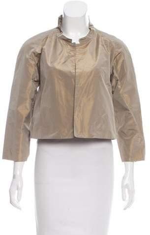 Calvin Klein Collection Silk Cropped Jacket
