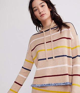 Lou & Grey Brightstripe Drawstring Neck Sweater