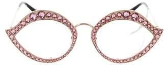 Gucci 2017 Crystal Cat-Eye Eyeglasses