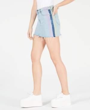 Hudson Jeans Diffused Raw-Hem Jean Skirt
