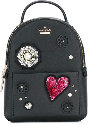 Kate Spade mini appliqué embellished backpack