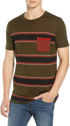 Scotch & Soda Stripe Merino Wool Pocket T-Shirt
