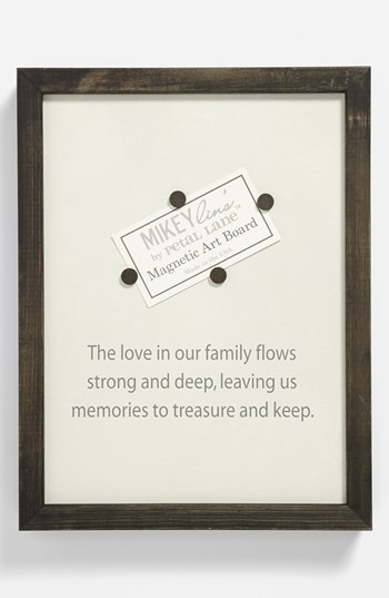 MIKEYLIN'S 'Family' Quotable Framed Magnet Art Board, Medium
