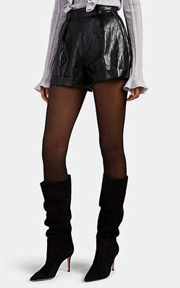 Philosophy di Lorenzo Serafini Women's Crystal-Embellished Faux-Leather Shorts - Black