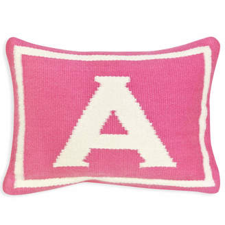 Jonathan Adler Reversible Junior Pink Letter Throw Pillow
