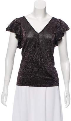 Rebecca Minkoff Ruffled Metallic Top