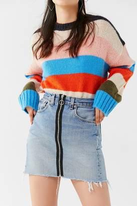 Urban Renewal Vintage Remade O-Ring Levi's Denim Mini Skirt