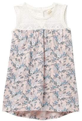 Harper Canyon Yoke Lace Printed Dress (Baby Girls)