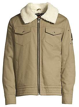 Moose Knuckles Men's Grizzly Ridge Faux Shearling Collar Jacket
