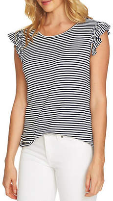 CeCe Ribbed Striped Top