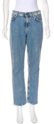 Acne Studios Boy Indigo Fray Mid-Rise Jeans