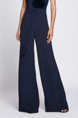 Cushnie Navy High Waisted Wide Leg Pant