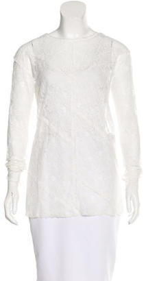 Sandro Long Sleeve Lace Blouse $85 thestylecure.com