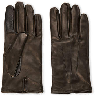 Made In Italy Cashmere Lined Leather Gloves