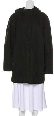 Prada Sport Virgin Wool Hooded Coat