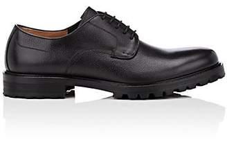 Barneys New York Men's Plain-Toe Leather Bluchers - Black