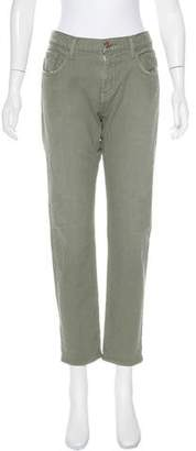 7 For All Mankind Distressed Mid-Rise Jeans