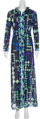 Emilio Pucci Geometric Print Maxi Dress Black Geometric Print Maxi Dress