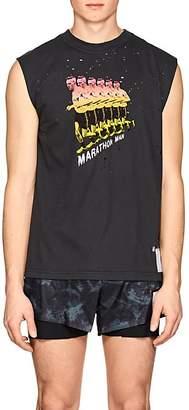 "Satisfy Men's ""Marathon Man"" Distressed Cotton Muscle T-Shirt"