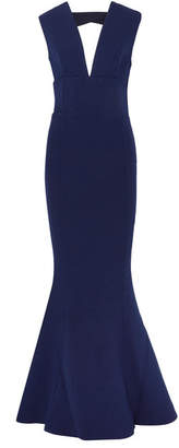 Rebecca Vallance Mimosa Cutout Stretch-crepe Gown - Navy