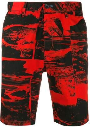 Paul Smith printed denim shorts