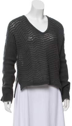 Helmut Lang V-Neck Wool Sweater