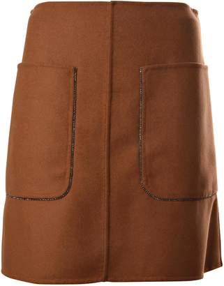 N°21 N.21 Embellished Pocket Mini Skirt