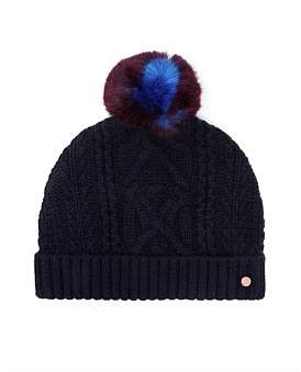 Ted Baker Cable Knit Bobble Hat