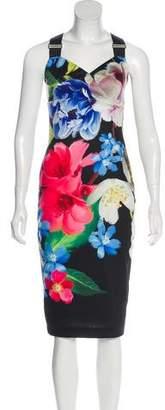 Ted Baker Floral Sleeveless Midi Dress