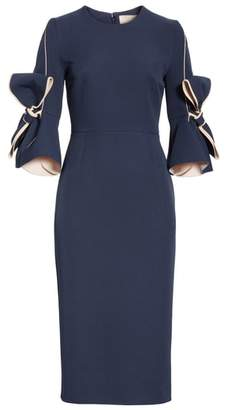 Roksanda Lavette Ribbon Sleeve Dress