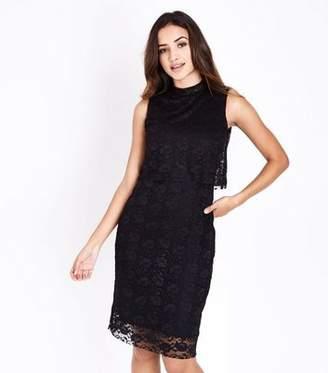 Yumi Black Lace Overlay Dress