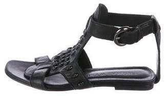Thomas Wylde Skull-Accented Leather Sandals
