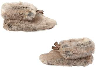 Pottery Barn Teen Wolf Ankle Tassel Faux-Fur Booties, X-Large