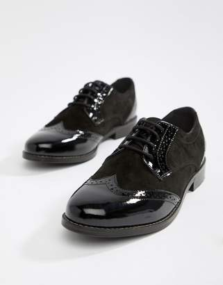 Dune London Foxxy Lace Up Leather Brogue Shoes