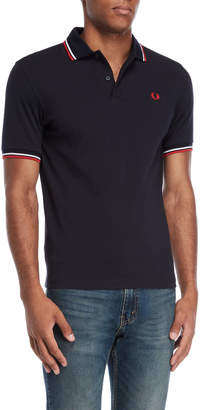 Fred Perry Navy & White Polo