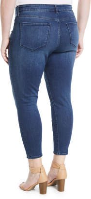 NYDJ Ami Rhinestoned Skinny Ankle Jeans, Plus Size