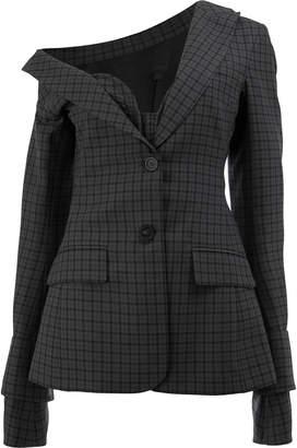 Vera Wang checked button blazer