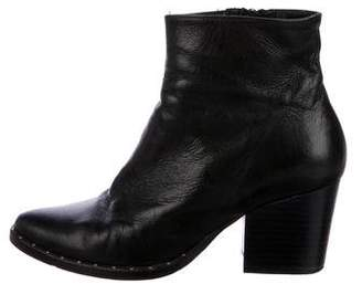 Freda Salvador Leather Semi-Pointed Booties