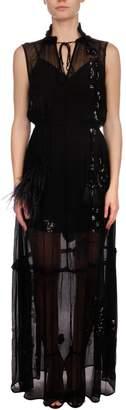 Patrizia Pepe Ruffled Chiffon Dress