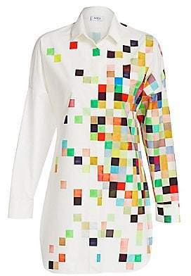 Akris Punto Women's Pixel Printed Long Tunic Blouse
