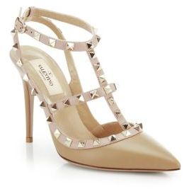 Valentino Rockstud Two-Tone Leather Pumps $995 thestylecure.com