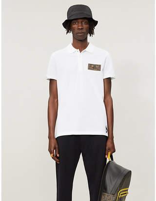 264f21aa Fendi Logo-patch cotton-piqué polo shirt
