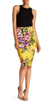 ECI Floral Pencil Skirt