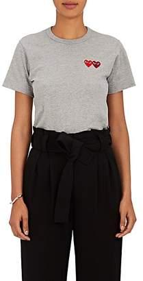 Comme des Garcons Women's Heart Cotton T-Shirt - Gray