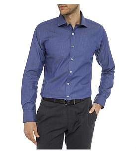 Geoffrey Beene Malibu Stretch Denim Body Fit Shirt