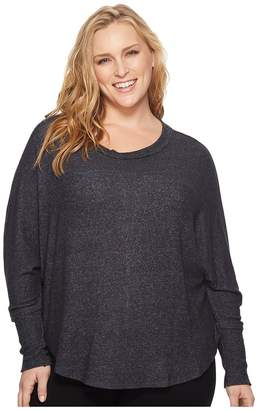 Bobeau B Collection by Plus Size Sara Dolman Cozy Top Women's Long Sleeve Pullover