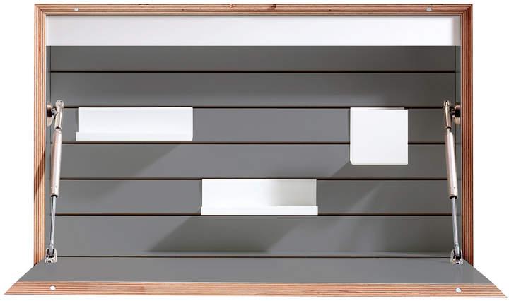 Müller Möbelwerkstätten - Flatbox Sekretär, Anthrazit (RAL 7039) / Birke