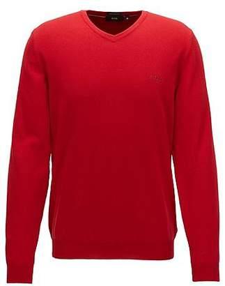 HUGO BOSS V-neck sweater in Italian cotton