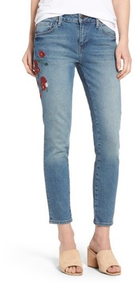 Women's Mavi Jeans Adriana Embroidered Ankle Skinny Jeans $118 thestylecure.com
