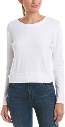 Monrow Open Tie-Back Sweatshirt